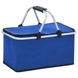 Lumarko Składana torba termiczna, niebieska, 46x27x23 cm, aluminium!