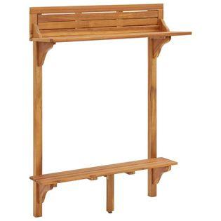 Barowy stolik balkonowy, 90x37x122,5 cm, lite drewno akacjowe