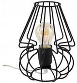 Lampa Biurkowa Stołowa Nocna Druciana Czarna 23 cm