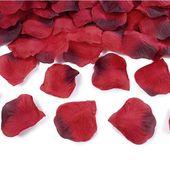 Płatki RÓŻ czerwone 100 szt wesele ślub zaręczyny
