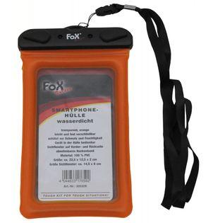 Wodoodporny pokrowiec na smartfon pomarańczowy