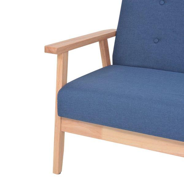 2-osobowa sofa tapicerowana, niebieska zdjęcie 5