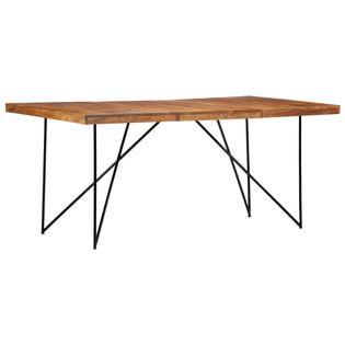 Stół do jadalni, 180 x 90 x 76 cm, lite drewno akacjowe