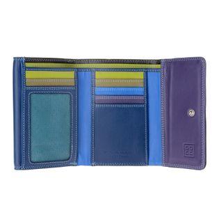 Skórzany mały portfel damski DuDu®, 534-1160 granatowy, czarny, fioletowy