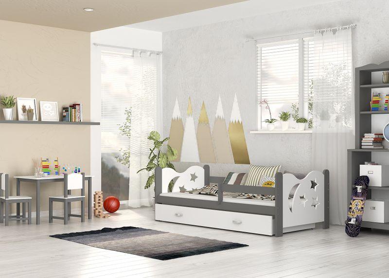 Łóżko dla dzieci MIKOŁAJ COLOR 160x80  szuflada + materac zdjęcie 5