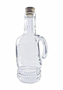 Duża szklana butelka z uchwytem na sok wodę alkohol wino
