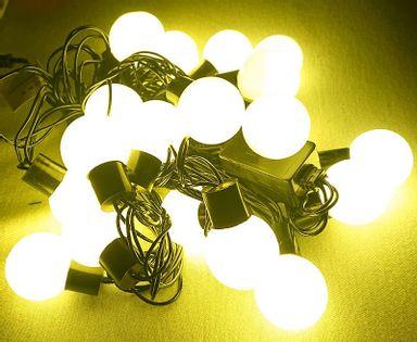 Lampki choinkowe kulki led 20 białych ciepłych lampek, 4 metry
