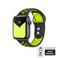 Crong Duo Sport - Pasek do Apple Watch 38/40 mm (czarny/limonkowy)