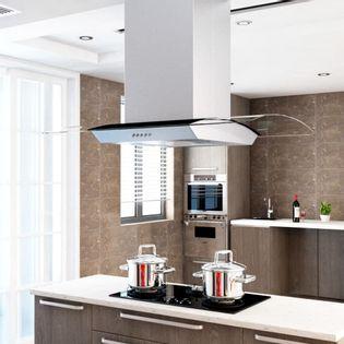 Lumarko Okap kuchenny LED, stal nierdzewna, 90 cm, 756 m³/h