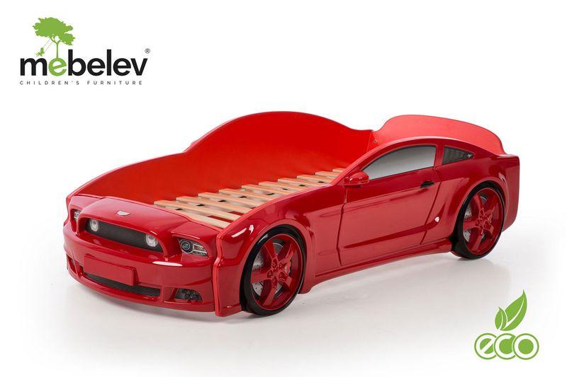 Łóżko AUTO samochód - Mebelev MG 3D basic CZERWONE zdjęcie 2