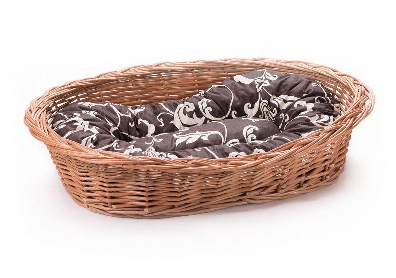 Wiklinowy leżak koszyk dla zwierząt dla kota pieska poduszka VIII k22 zdjęcie 1