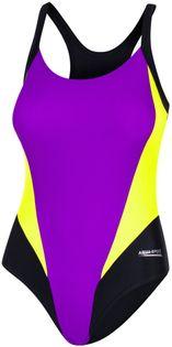 Kostium pływacki SONIA Rozmiar - Stroje damskie - 36(S), Kolor - Sonia - 19 - fioletowy / czarny / zielony fluo