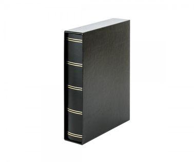 Klaser Luxus z etui- 60 str A4 czarny czarne karty
