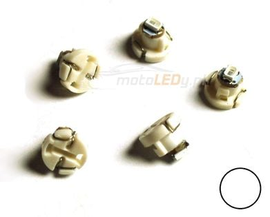 ŻARÓWKA LED T4.2, T4, R4, W1,2W, W2W  0,2W 12V biała 20lm kokpit