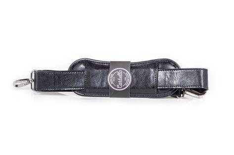 Uniwersalny, skórzany pasek do torby na ramię, szerokość 40mm Czarny