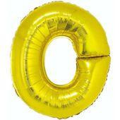 Balon foliowy LITERA O złoty alfabet napis 85 cm