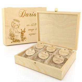 SZKATUŁKA drewniana pudełko wspomnień PREZENT GRAWER