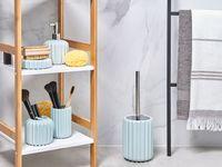 Zestaw akcesoriów łazienkowych niebieski
