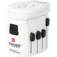 Adapter podróżny SKROSS PRO World & USB, 6,3A, (PA41) (422715) Biały