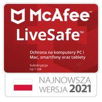 McAfee Live Safe  bez limitu urządzeń / 1rok