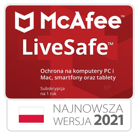 McAfee Live Safe  bez limitu urządzeń / 1rok na Arena.pl