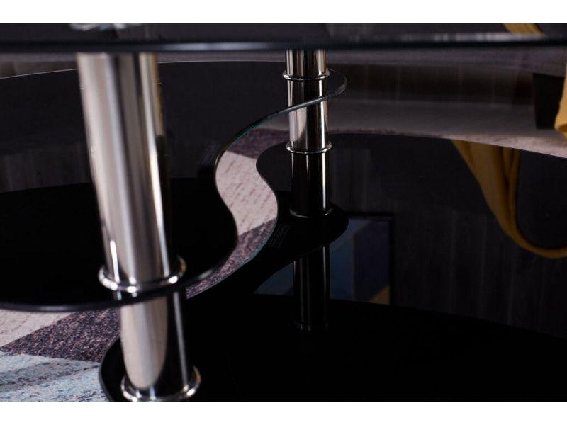 Stolik kawowy ława szklana stoliki szklane salon 110x60 blat górny 8mm zdjęcie 13