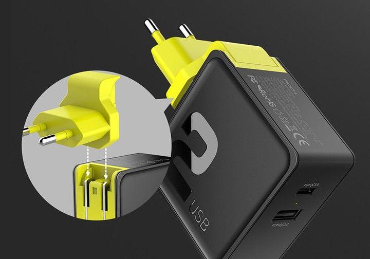Ładowarka Sieciowa USB ROCK Quick Charge 3.0 30W zdjęcie 2