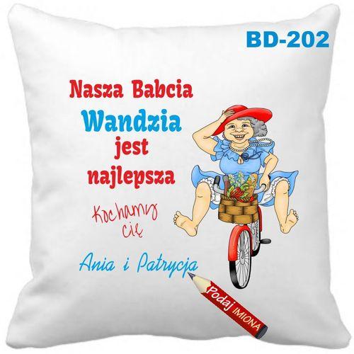 Poduszka Dzień Babci i Dziadka z imionami wnuków  Babcia Dziadek na Arena.pl