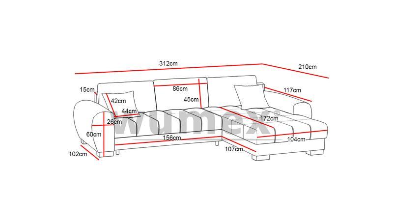 Narożnik Zeus funkcja SPANIA łóżko ROGÓWKA sofa zdjęcie 2