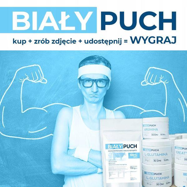 BIAŁY PUCH ARGININA hormon wzrostu mięśni 210g ODŻYWKA FUNKCJONALNA na Arena.pl