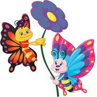 Dwa motylki 30x30cm naklejka dziecko ścienna