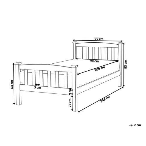 Łóżko Drewniane 90 X 200 Cm Białe Giverny na Arena.pl
