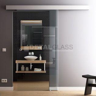DRZWI SZKLANE przesuwne NA WYMIAR (szkło przeźroczyste) - PRODUCENT