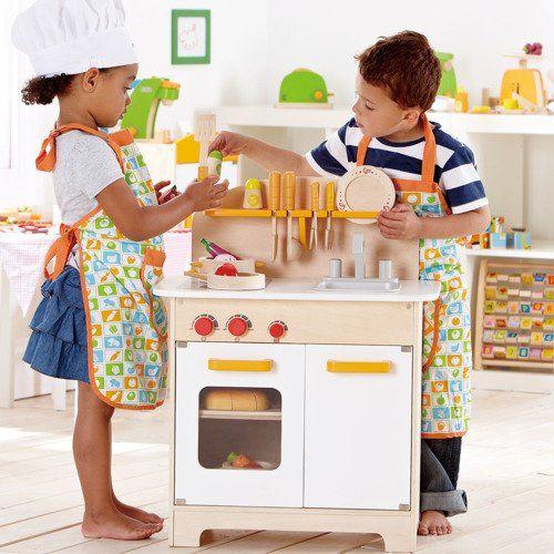 Hape Duża Kuchnia drewniana do zabawy dla dzieci zdjęcie 3
