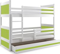 Łóżko dla dzieci RICO dziecięce 200x90 meble drewniane piętrowe
