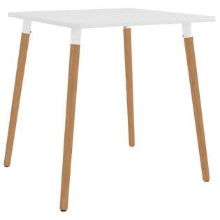 Stół jadalniany, biały, 80 x 80 x 75 cm, metalowy