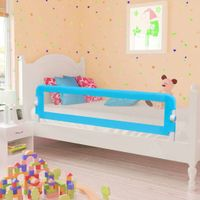 Barierki do łóżeczka dziecięcego 2 szt. niebieskie 150x42cm VidaXL