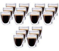 Szklanki z Podwójną Ścianką do Kawy Herbaty Coffee 235ml 18 sztuk