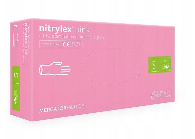 Rękawice nitrylowe nitrylex pink S 10 karton x 100 szt na Arena.pl