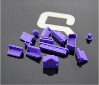 Zaślepki gniazd komputerowych USB HDMI VGA - Fioletowe