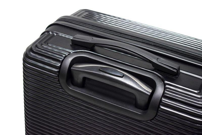 WALIZKA walizki kółka torba samolot ZESTAW M + L CZARNE 1073+1074 zdjęcie 5