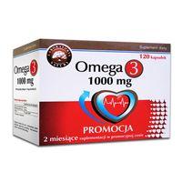 Omega-3 1000 mg 25% Gratis 120 kapsułek  - Długi termin ważności!