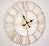 Drewniany zegar ścienny Vintage Loft 50cm