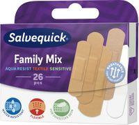 Salvequick   Plastry Z Opatrunkiem Family Mix- 26 Szt.