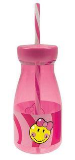 Butelka ze słomką dla dziewczynki Smiley Kid Zak! Designs