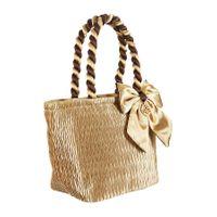 Kosmetyczka-torebka Ana satynowa w kolorze złotym