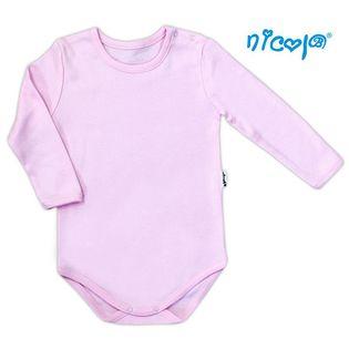 """010 04 Body niemowlęce z długim rękawem """"Basic"""" Nicol - różowy,"""