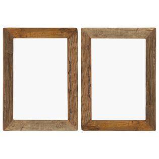 Lumarko Ramki na zdjęcia, 2 szt., 40x50 cm, drewno z odzysku i szkło!