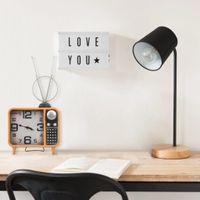 Lumarko Zegar stołowy, pomarańczowo-czarny, 25x11x48 cm, żelazo i MDF