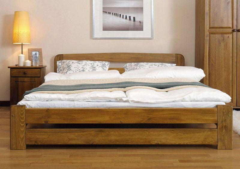 łóżko 160x200 Lidia Ze Stelażem Dąb